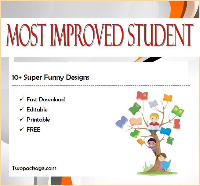 certificate for most improved student, most improved student certificate, most improved student award certificate, free printable most improved student certificates