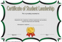 Educational Leadership Graduate Certificate Template FREE 1
