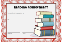 Extraordinary Reading Achievement Certificate Template FREE