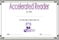 FREE Accelerated Reader Certificate Template (Goal Reached)
