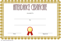 FREE Perfect Attendance Certificate Template Microsoft Word (Super Formal)