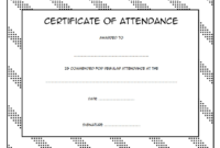 FREE Perfect Attendance Certificate Template Microsoft Word for Students