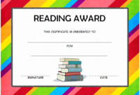 FREE Reading Award Certificate Template (2020 Rainbow Design)