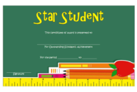 FREE Star Student Certificate of Achievement Template 1