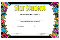 FREE Star Student Certificate of Achievement Template 2