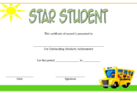 FREE Star Student Certificate of Achievement Template 3