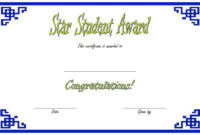FREE Star Student Certificate of Award Template 1