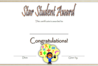 FREE Star Student Certificate of Award Template 2