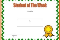 FREE Student of The Week Certificate Template (Simple Student Award)