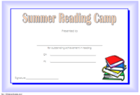 FREE Summer Reading Certificate Template (Simple Blue)