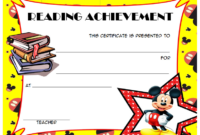 FREE Super Fun Reading Achievement Certificate Template