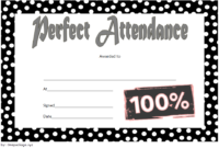 Free Perfect Attendance Certificate Word Template (Amazing 2020)