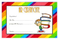 Funny Accelerated Reader Word Count Certificate Template