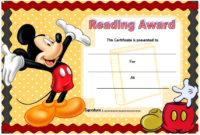 Funny Reading Award Certificate Template FREE