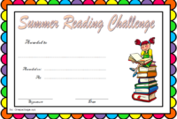 Funny Summer Reading Challenge Certificate FREE Printable