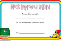 Most Improved Student Certificate Template 1