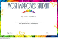 Most Improved Student Certificate Template 7