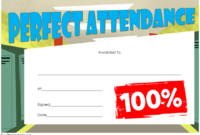 Perfect Attendance Certificate for Students (FREE Template)