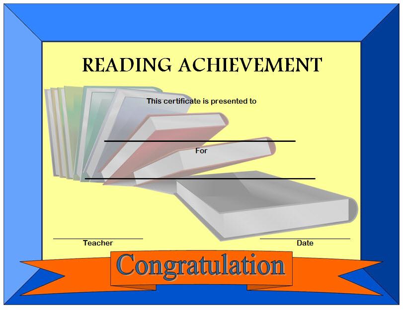 reading achievement certificate template, printable reading certificates achievement, certificate for reading achievement, reading achievement award certificates, editable reading award certificates