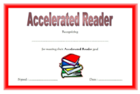 Simple Red Accelerated Reader Certificate FREE Printable