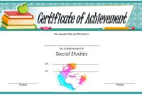 Social Studies Achievement Certificate FREE Printable 1