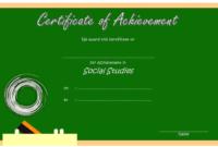 Social Studies Achievement Certificate FREE Printable 2