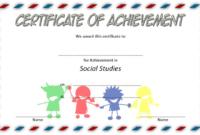 Social Studies Achievement Certificate FREE Printable for Kids