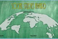 Social Studies Certificate of Award FREE Printable 2