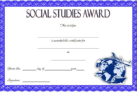 Social Studies Certificate of Award FREE Printable 3