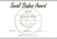 Social Studies Certificate of Award FREE Printable 5