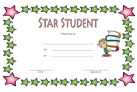 Star Student Certificate Template FREE 1