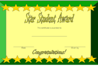 Star Student Certificate Template FREE 2