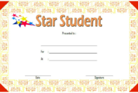 Star Student Certificate Template FREE 4