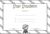 Star Student Certificate Template FREE 5