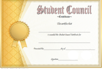 Student Council Award Certificate Template FREE 01