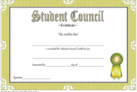 Student Council Award Certificate Template FREE 02
