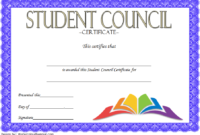 Student Council Award Certificate Template FREE 03