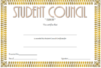 Student Council Award Certificate Template FREE 04