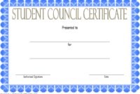 Student Council Certificate Template Free Download 1