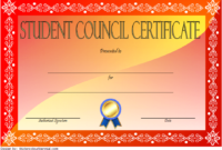 Student Council Certificate Template Free Download 3