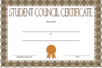 Student Council Certificate Template Free Download 4