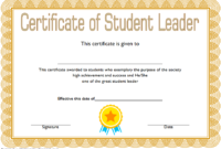 Student Leadership Award Certificate Template FREE 2