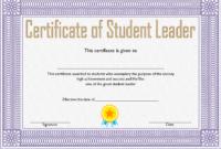 Student Leadership Award Certificate Template FREE 3