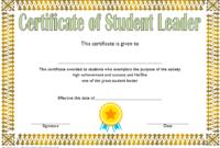 Student Leadership Award Certificate Template FREE 4