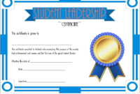 Student Leadership Award Certificate Template FREE 5
