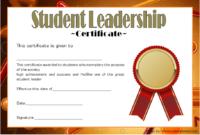 Student Leadership Award Certificate Template FREE 6