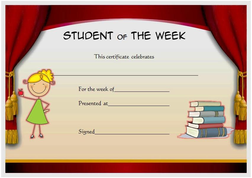 student of the week certificate printable, student of the week certificate editable, student of the week certificate template, student of the week certificate clipart, certificate for student of the week