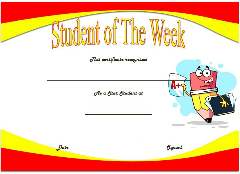 student of the week certificate printable, super student of the week certificate, student of the week certificate editable, student of the week certificate template, certificate for student of the week
