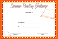 Summer Reading Challenge Certificate FREE Printable (Funny Design)