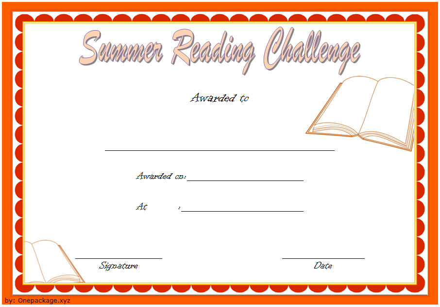 summer reading certificate template, summer reading challenge certificate, summer reading camp certificate, summer reading program certificates, editable reading certificate pdf